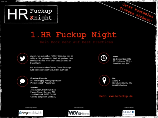 1. HR Fuck Up Night - eCard Social Media